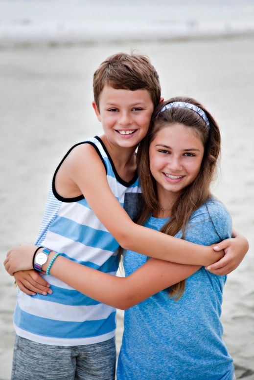 Peyton and her brother