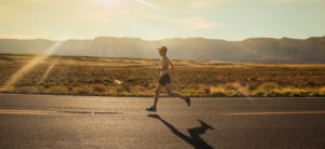Building Strong Hearts 5K - running through the desert.