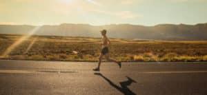 Building Strong Hearts 5K - running through the desert.
